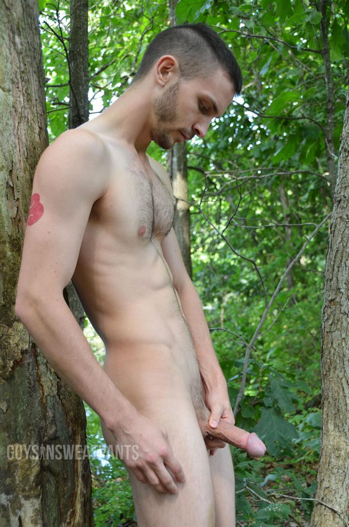 Guys-in-Sweat-Pants-Austin-Wilde-and-Arnaud-Chagall-Muscle-Guys-Fucking-In-The-Woods-Amateur-Gay-Porn-01 Best Friends Austin Wilde and Arnaud Chagall Muscle Fuck In The Woods