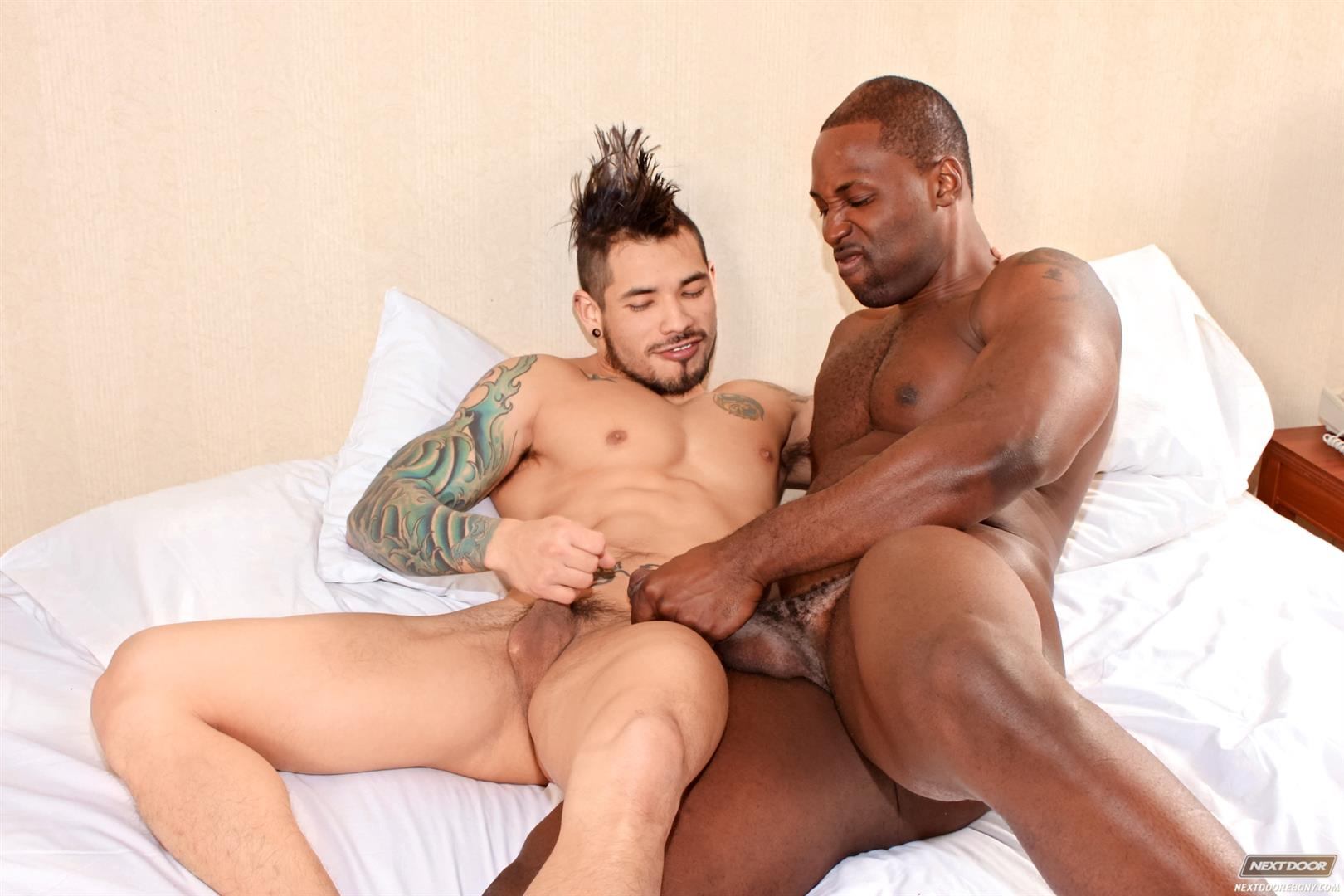 Next-Door-Ebony-Nubius-and-Draven-Torres-Big-Black-Cock-Fucking-Tight-Latino-Ass-Amateur-Gay-Porn-14 Big Black Bull Fucks A Young Latino Hipster With His Big Black Cock