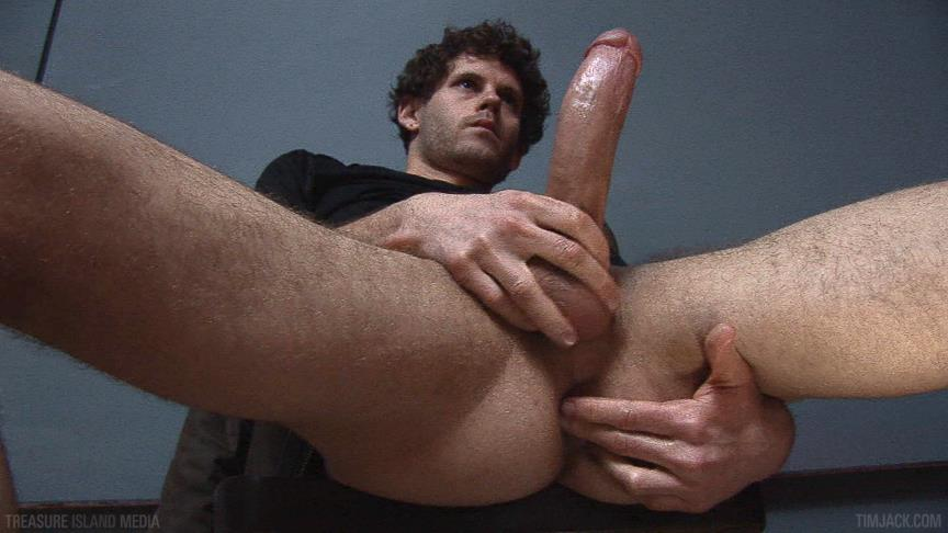 "Treasure-Island-Media-TimJACK-Wolf-Hall-8-Inch-Cock-Masturbation-Amateur-Gay-Porn-05 Treasure Island Media: Wolf Hall Strokes Out A Load From His 8"" Cock"