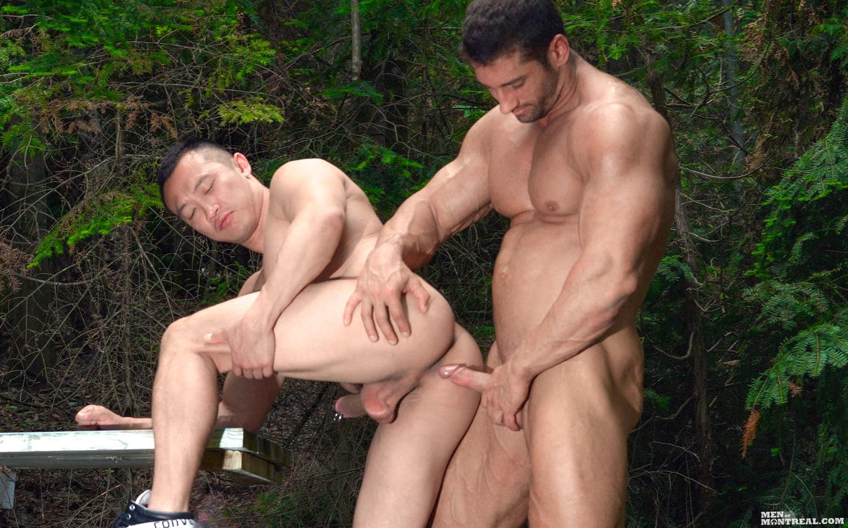 Men-of-Montreal-Archer-Quan-and-Christian-Power-Asian-Muscle-Man-Gets-Fucked-In-The-Ass-By-Hunk-Big-Asian-Cock-Amateur-Gay-Porn-13 Canadian Lumberjack Fucks A Muscle Asian Hunk In The Ass