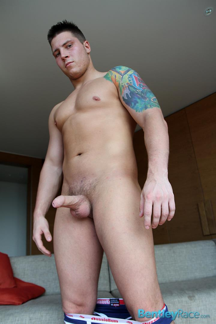 Bentley-Race-Tom-Lucas-Big-Muscle-Hunk-Jerks-His-Big-Thick-Uncut-Cock-Amateur-Gay-Porn-14 Professional Aussie Wrestler Strips And Strokes His Thick Uncut Cock