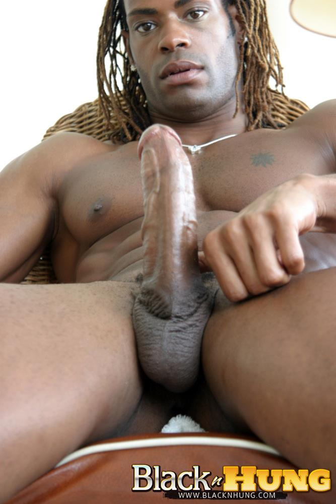 BlacknHung-Marlone-Starr-Hung-Black-Guy-Jerking-His-Big-Black-Cock-Amateur-Gay-Porn-15 Amateur Black Muscle Hunk Marlone Starr Jerks His Big Black Cock