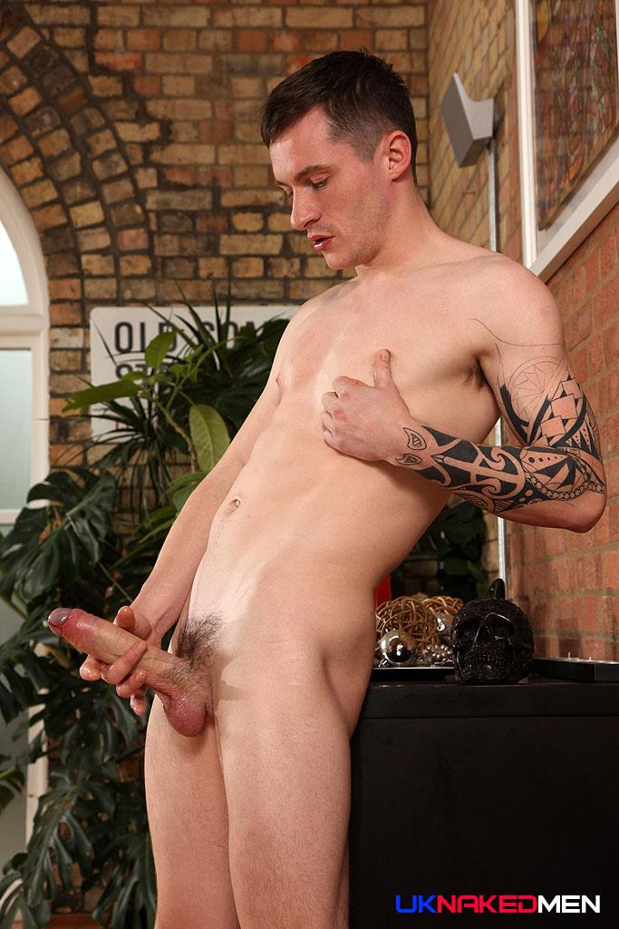 UK-Naked-Men-Daniel-James-Young-British-Guy-Jerking-His-Big-Uncut-Cock-Amateur-Gay-Porn-15 Young British Guy Jerking Off A Huge Uncut Cock