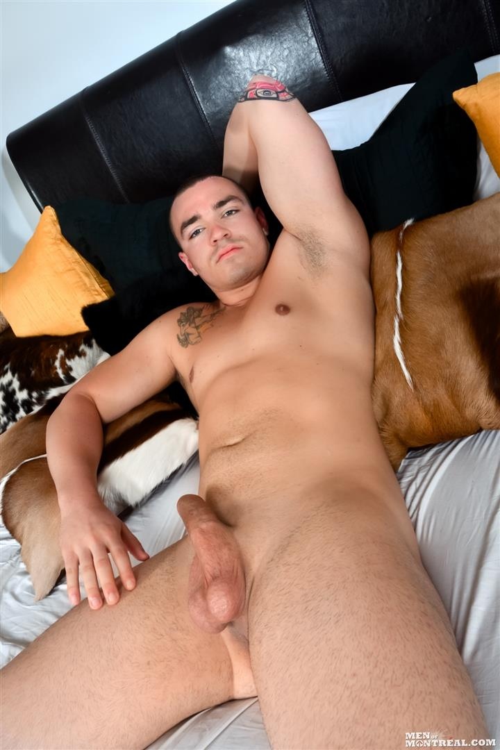Men-of-Montreal-Scott-Lapoint-Canadian-Muscle-Hunk-With-A-Big-Uncut-Cock-Amateur-Gay-Porn-11 Canadian Muscle Hunk Scott Lapoint Stroking His Big Uncut Cock