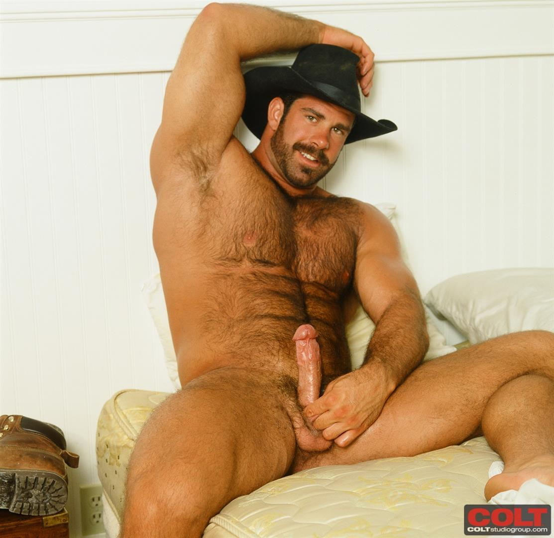 Colt-Studio-Group-Pete-Kuzak-Hairy-Muscle-Hunk-With-Hairy-Cock-Amateur-Gay-Porn-12 Hairy Muscle Hunk Colt Icon Pete Kuzak Showing It All