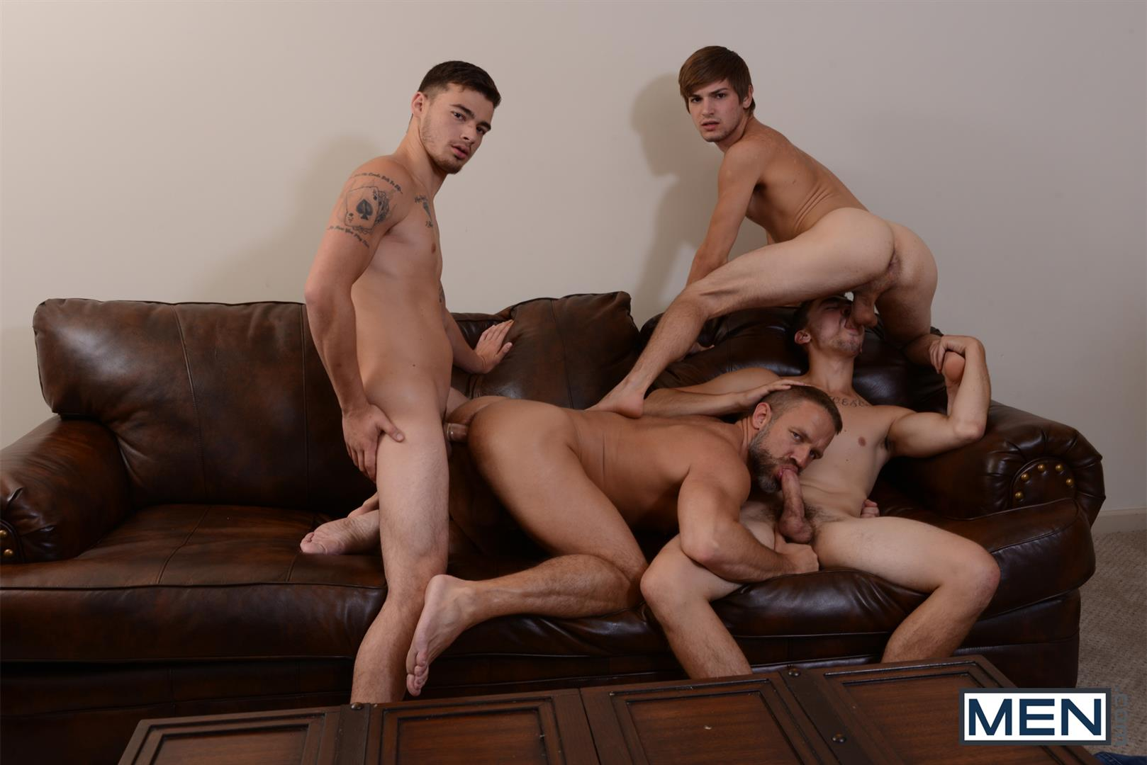 Men-Jizz-Orgy-Asher-Hawk-and-Dirk-Caber-and-Johnny-Rapid-and-Trevor-Spade-Triple-Penetrated-In-the-Ass-Amateur-Gay-Porn-17 Stepfather Dirk Caber Gets TRIPLE Penetrated By His Stepsons
