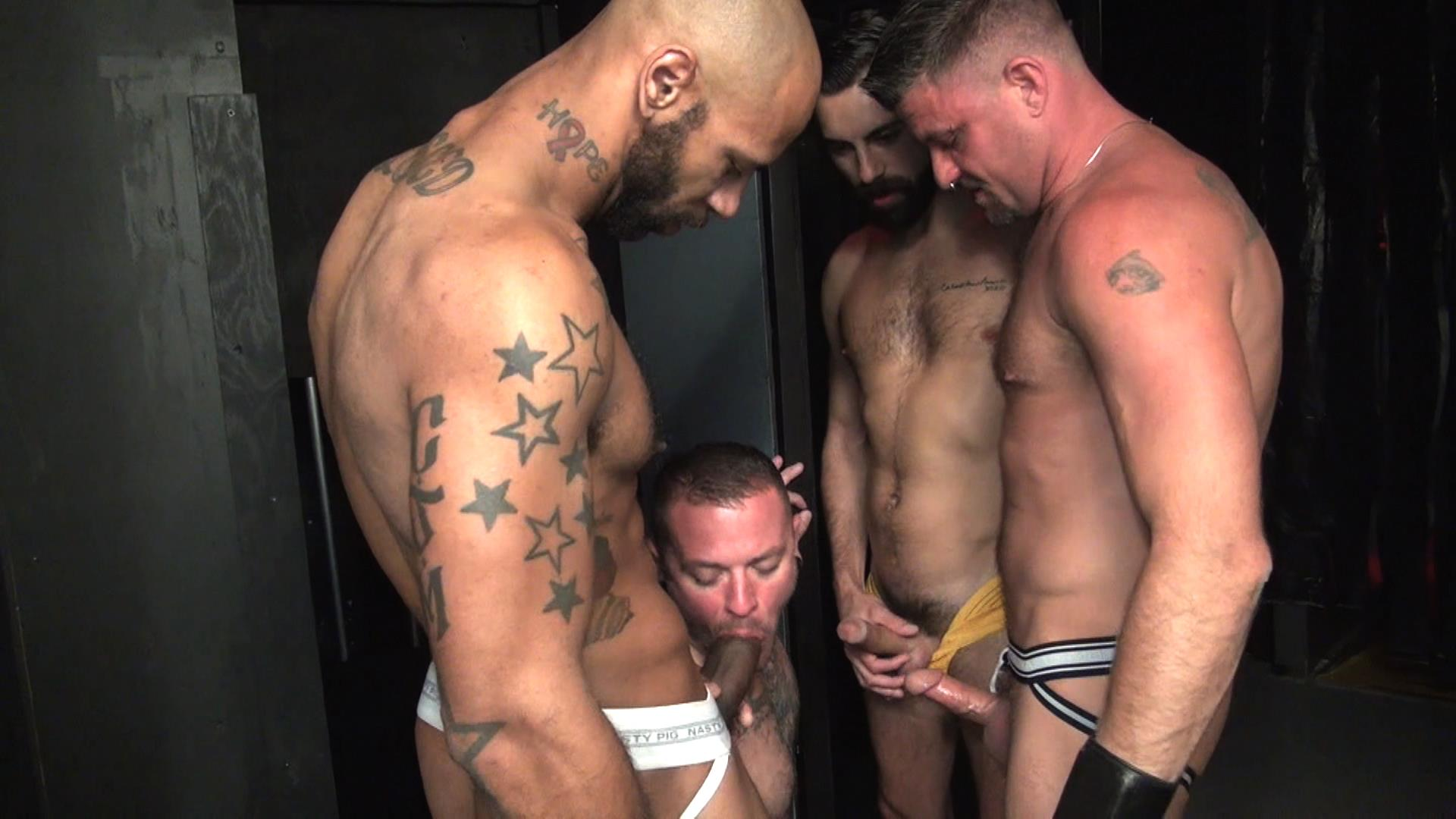 Raw-Fuck-Club-Raw-Fuck-Club-Max-Cameron-and-Christian-Matthews-and-Kory-Mitchel-and-Dean-Brody-Bareback-Bathhouse-Amateur-Gay-Porn-4 Four Way Bareback Fucking And Cum Fest At The Bathhouse