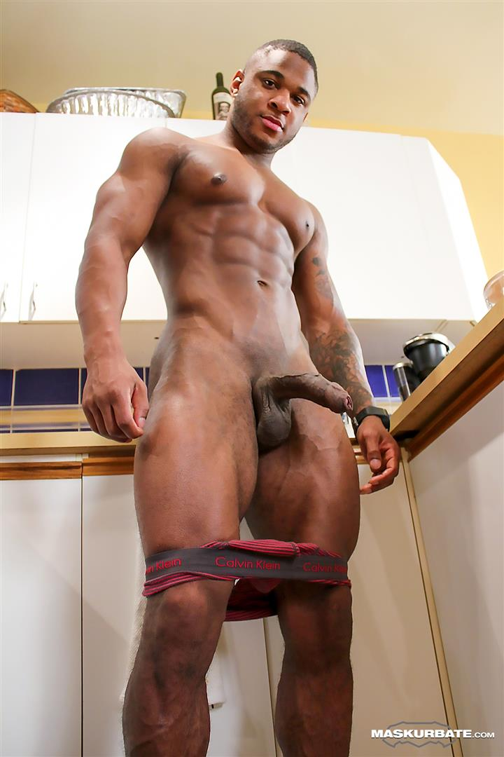 Maskurbate-Adam-Black-Muscle-Guy-Jerking-His-Big-Black-Uncut-Cock-Amateur-Gay-Porn-08 Black Bodybuilder Strokes His Big Black Uncut Cock