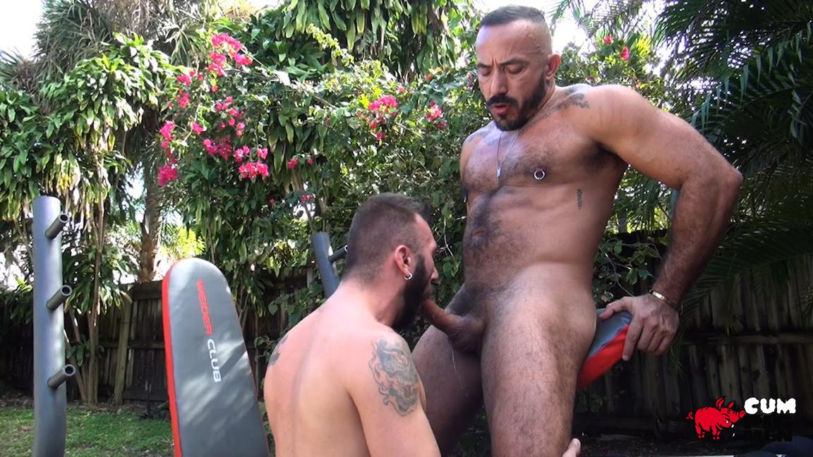 Cum Pig Men Alessio Romero and Ethan Palmer Hairy Muscle Latino Daddy Cocksucking Amateur Gay Porn 06 Hairy Latino Muscle Daddy Gets A Load Sucked Out And Eaten