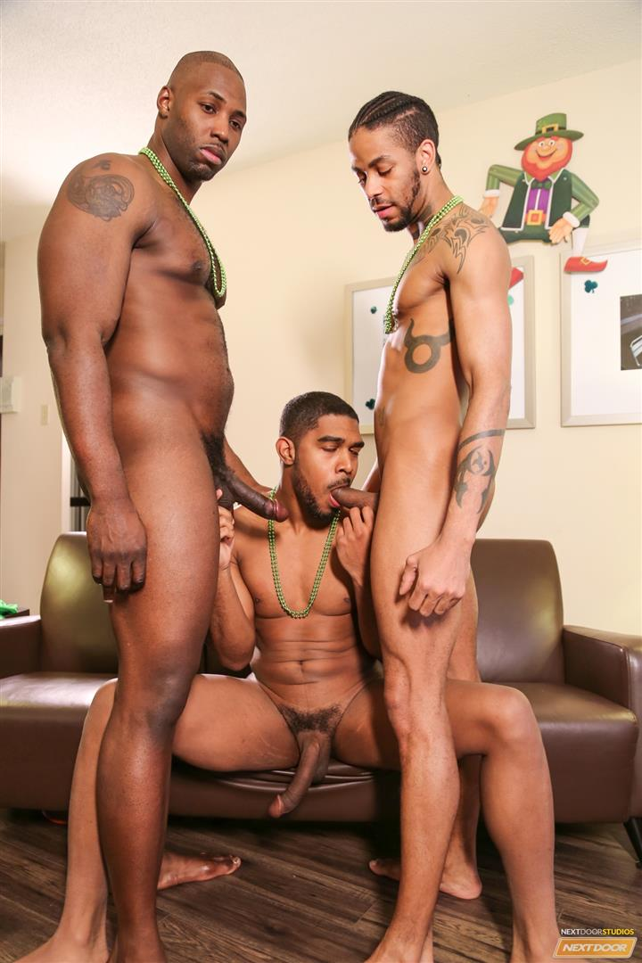 Next Door Ebony Nubius and Jin Powers and XL Naked Thugs Threeway Fucking Amateur Gay Porn 08 Big Black Cock Threeway Suck and Fuck Thug Fest