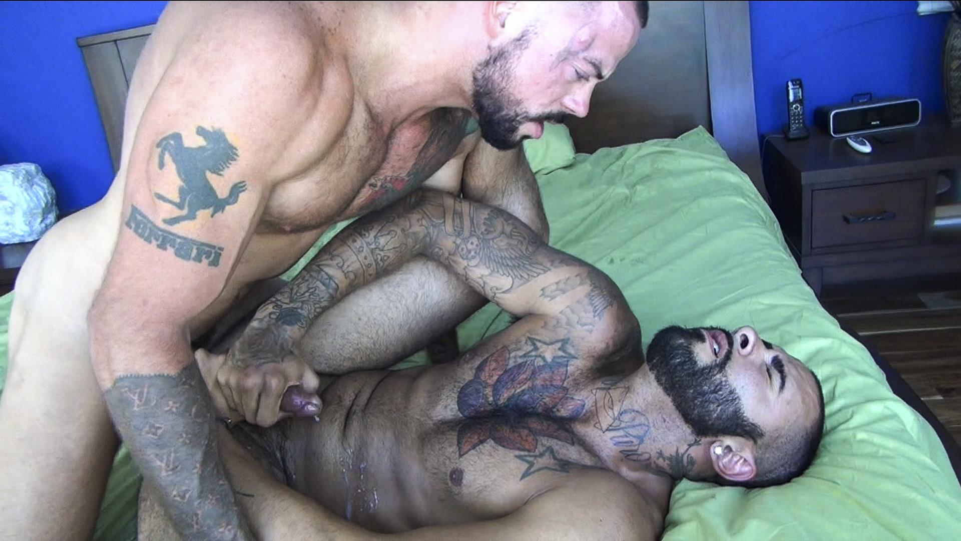 Raw-Fuck-Club-Rikk-York-and-Sean-Duran-Hairy-Muscle-Bareback-Amateur-Gay-Porn-2 Hairy Muscle Studs & Real Life Boyfriends Sean Duran & Rikk York Bareback