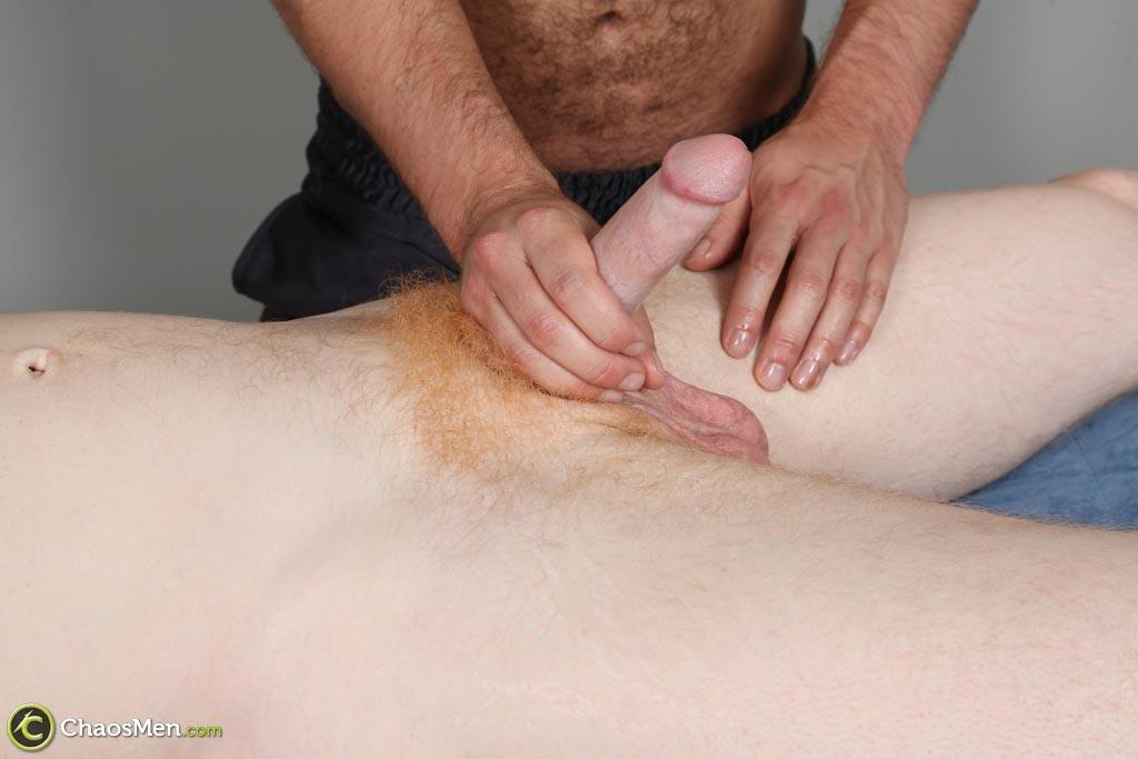 ChaosMen-Noah-and-Aric-Naked-Redhead-Gets-Blowjob-and-Rimming-Amateur-Gay-Porn-14 Straight Redhead Gets A Massage, Rimming and Blow Job From Another Guy