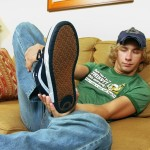 """Toegasms Casey Wood Twink With A Big Dick Cum On Feet Amateur Gay Porn 03 150x150 Blonde Twink Casey Wood Jerking His 10"""" Cock & Cumming On His Feet"""
