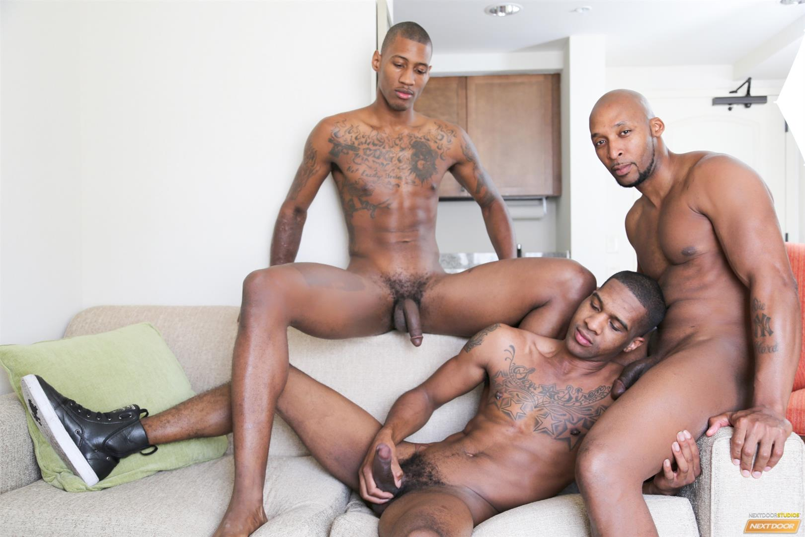 Next-Door-Ebony-Ramsees-and-King-B-and-Staxx-Big-Black-Cock-Group-Sex-Amateur-Gay-Porn-06 King B Takes Two Big Black Cocks Up The Ass For His Birthday