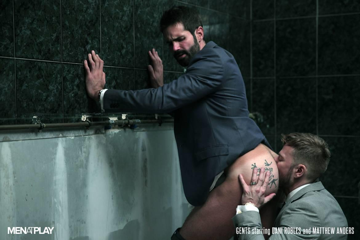 Men-At-Play-Matthew-Anders-and-Dani-Robles-Men-In-Suits-With-Big-Cocks-Fucking-Amateur-Gay-Porn-19 Looking For Cock and A Fuck In the Men's Restroom