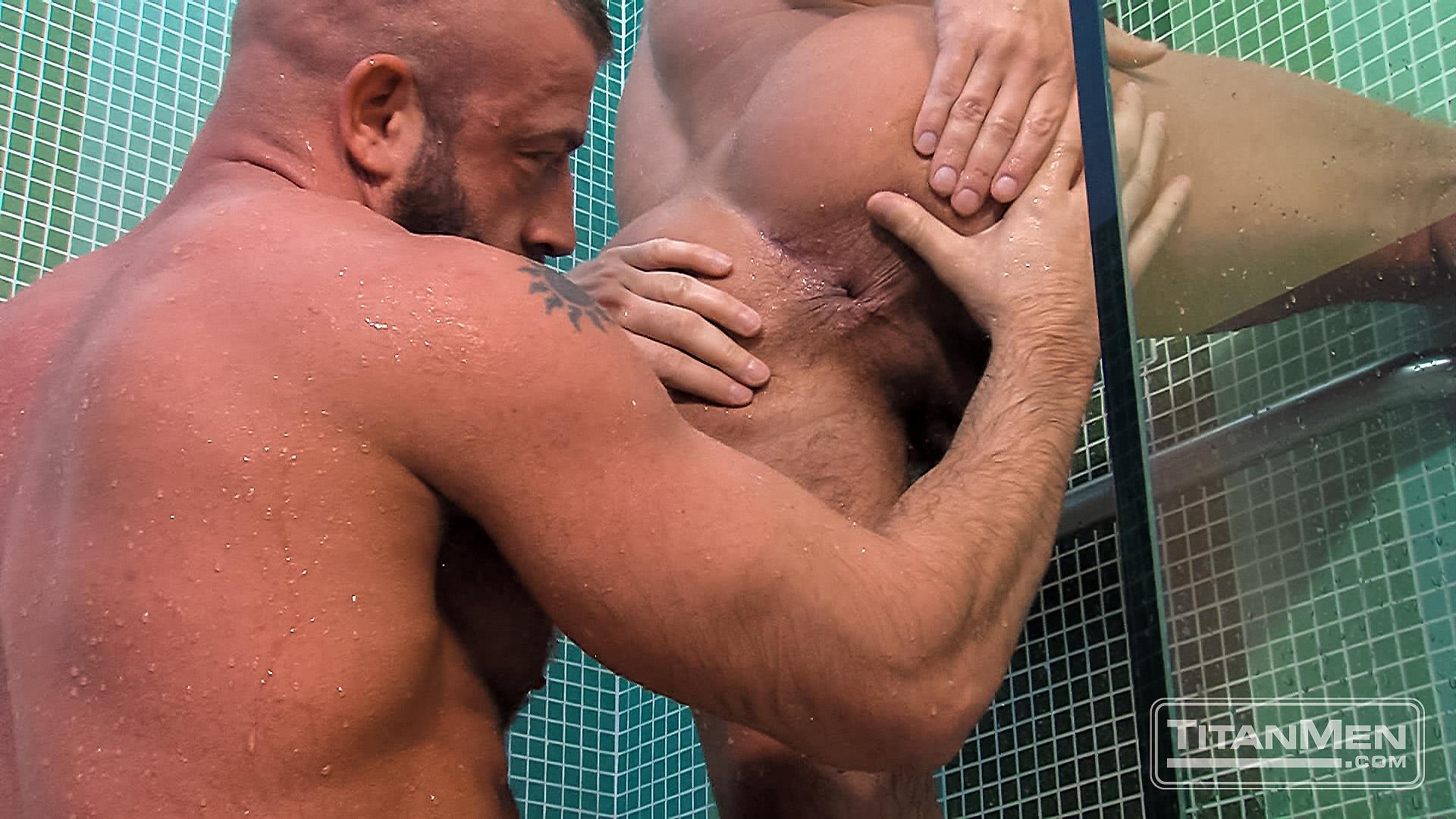 Titanmen Titan Hunter Marx and Dirk Caber Hairy Muscle Daddy Fuck Amateur Gay Porn 24 Dirk Carber Gets Fucked Hard By Another Muscle Daddy With A Thick Cock