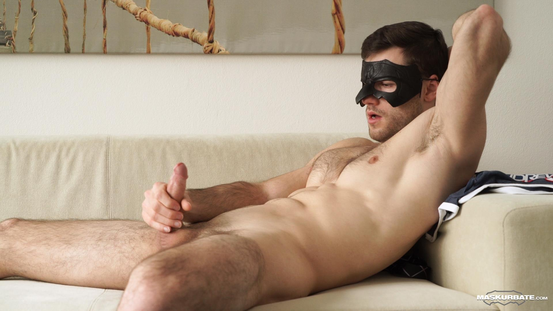 Maskurbate-Sam-Cuthan-Straight-Naked-Hairy-Muscle-Guy-Jerk-off-10 Straight Masked Hairy Muscle Hunk Strokes His Big Uncut Cock