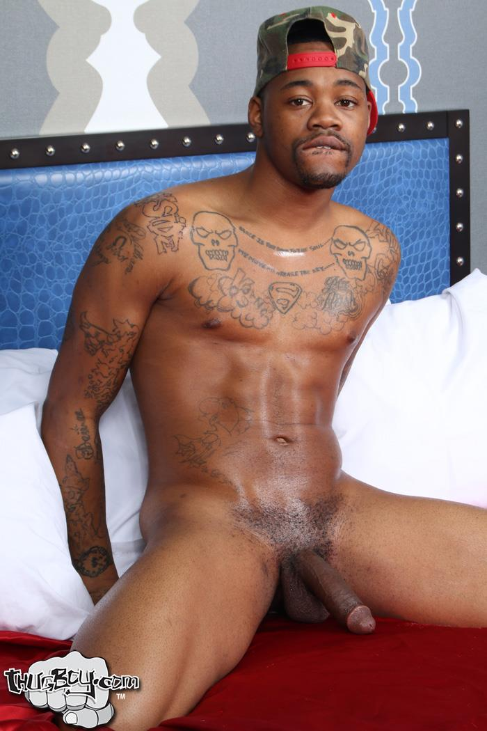 Thug-Boy-King-Kato-Naked-Chicago-Thug-Big-Black-Dick-51 Chicago South Side Thug Stokes His Big Black Cock