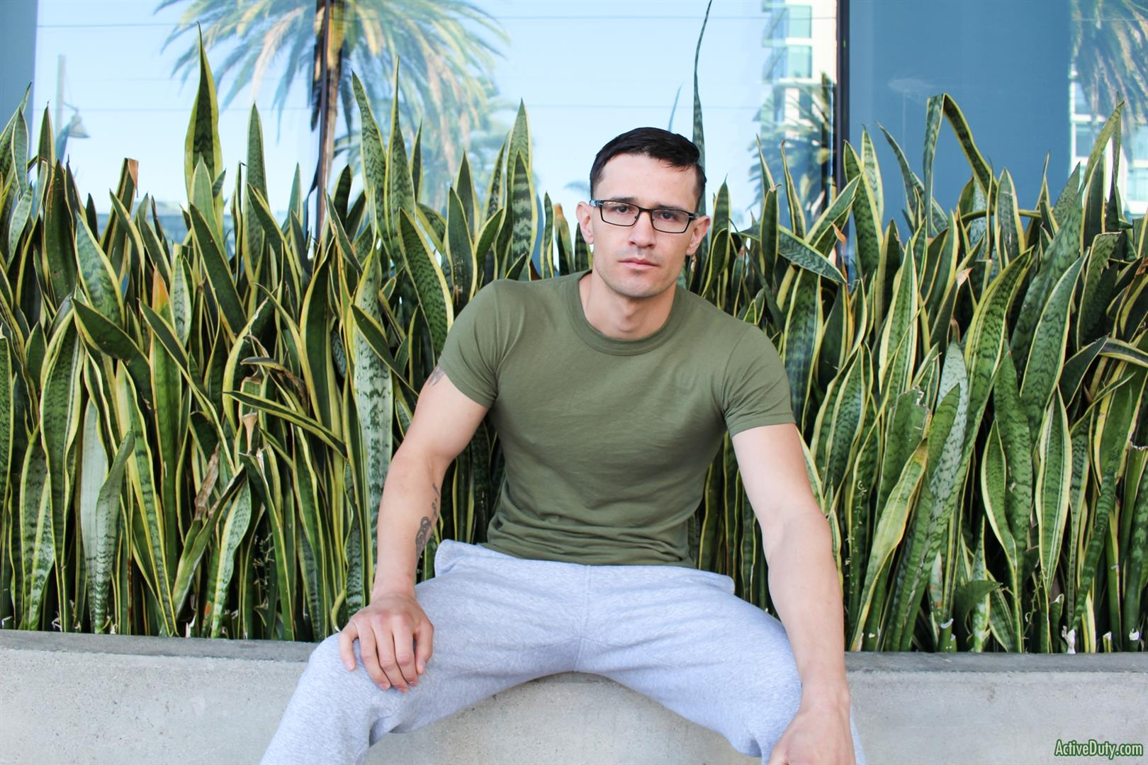 Active-Duty-Woody-Johnson-Naked-Military-Guy-Jerking-Off-Big-Cock-07 Soldier Auditions For Gay Porn And Strokes A Big Load Out