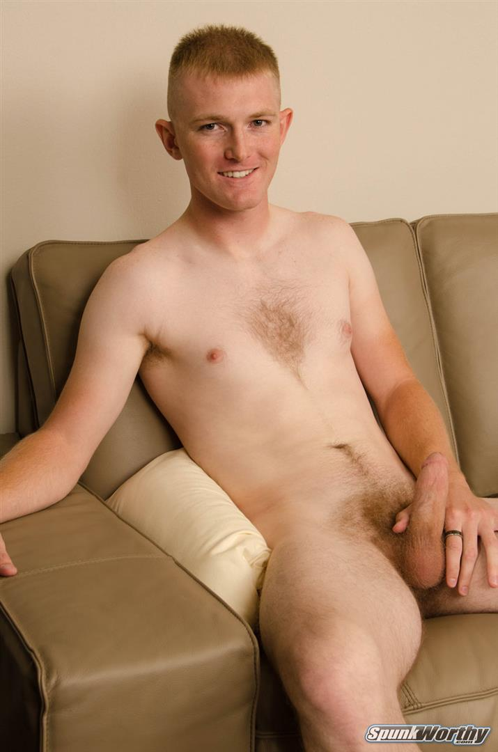 SpunkWorthy-Vance-Naked-Marine-With-A-Thick-Cock-Jerking-Off-06 Tall Straight Marine Jerks Off On Camera For The First Time