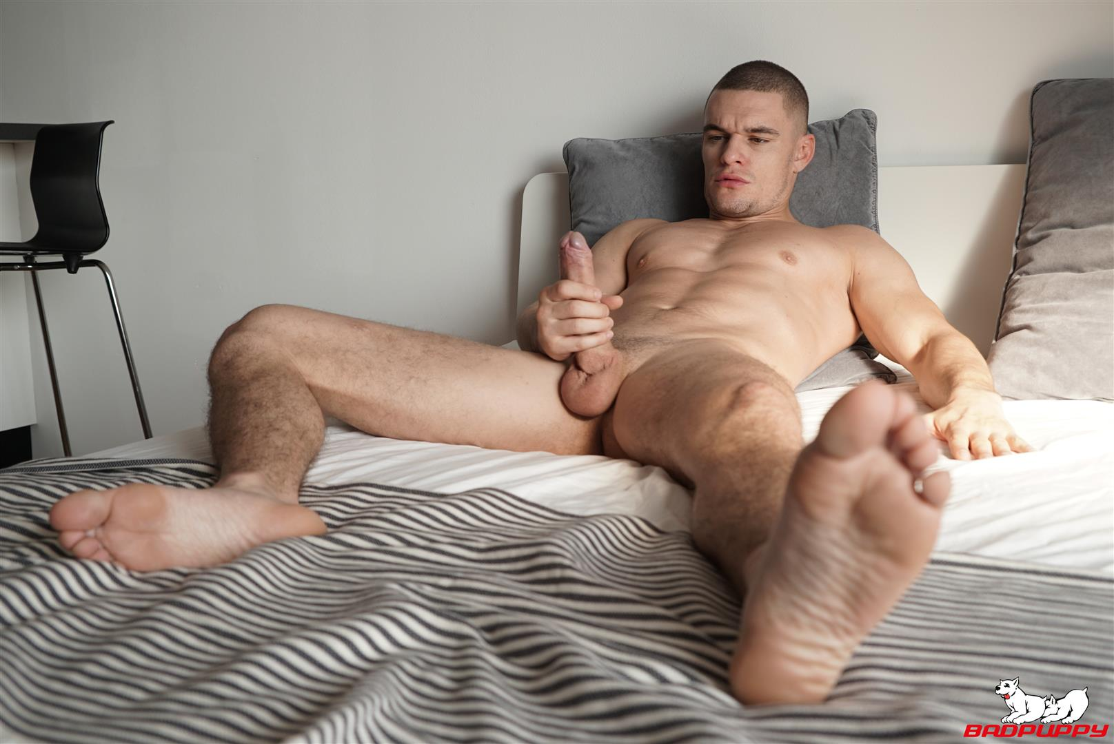 Badpuppy-Max-Dior-Big-Uncut-Cock-Jerkoff-Video-11 Waking Up From A Nap And Jerking Off My Big Uncut Cock
